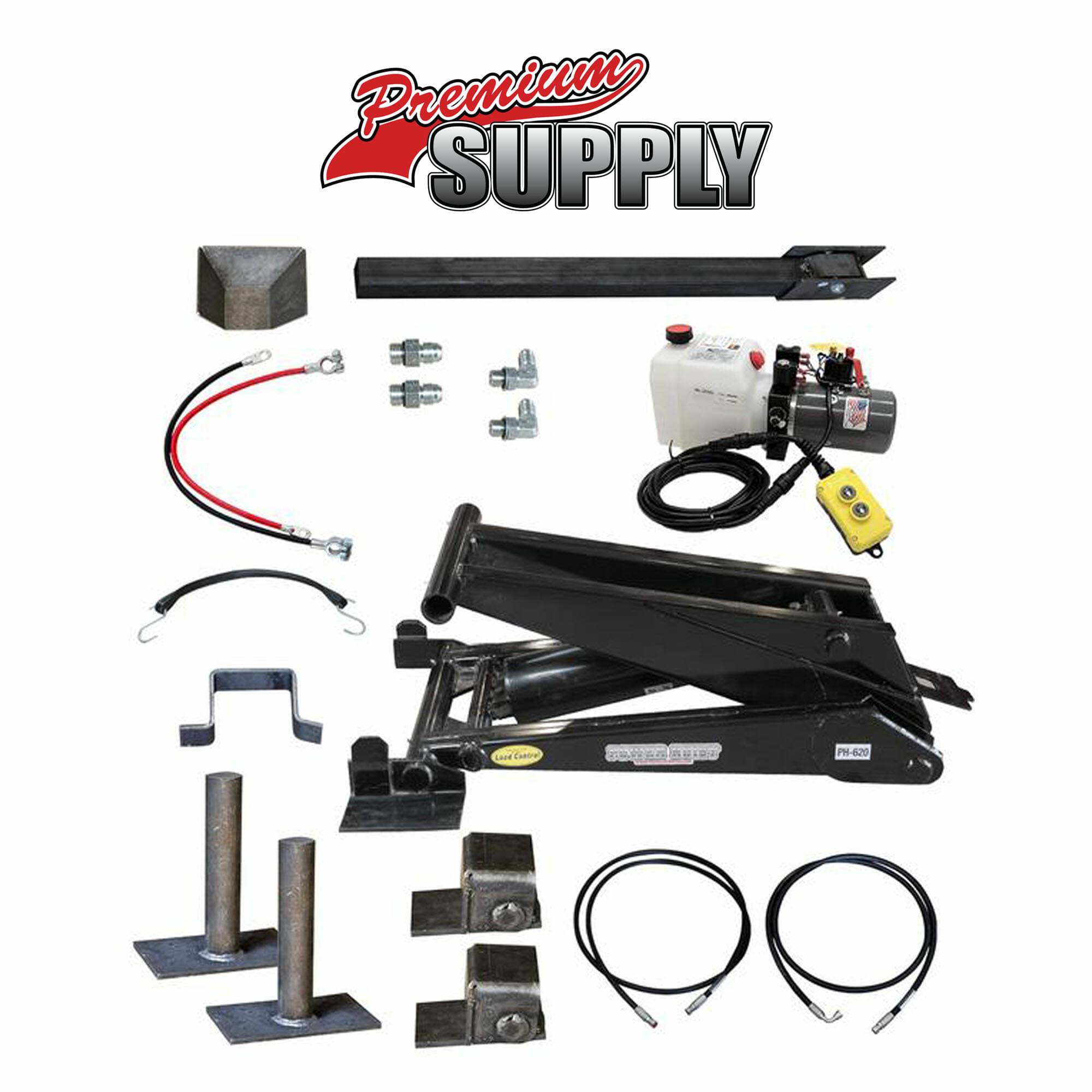 Hydraulic Trailer Lift Kits : Ton lb dump trailer hydraulic scissor hoist