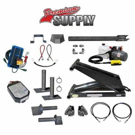 6 Ton (12,000 lb) Dump Trailer Hydraulic Scissor Hoist Kit