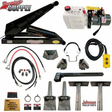 8 Ton (16,000 lb) Dump Trailer Hydraulic Scissor Hoist Kit – PH516