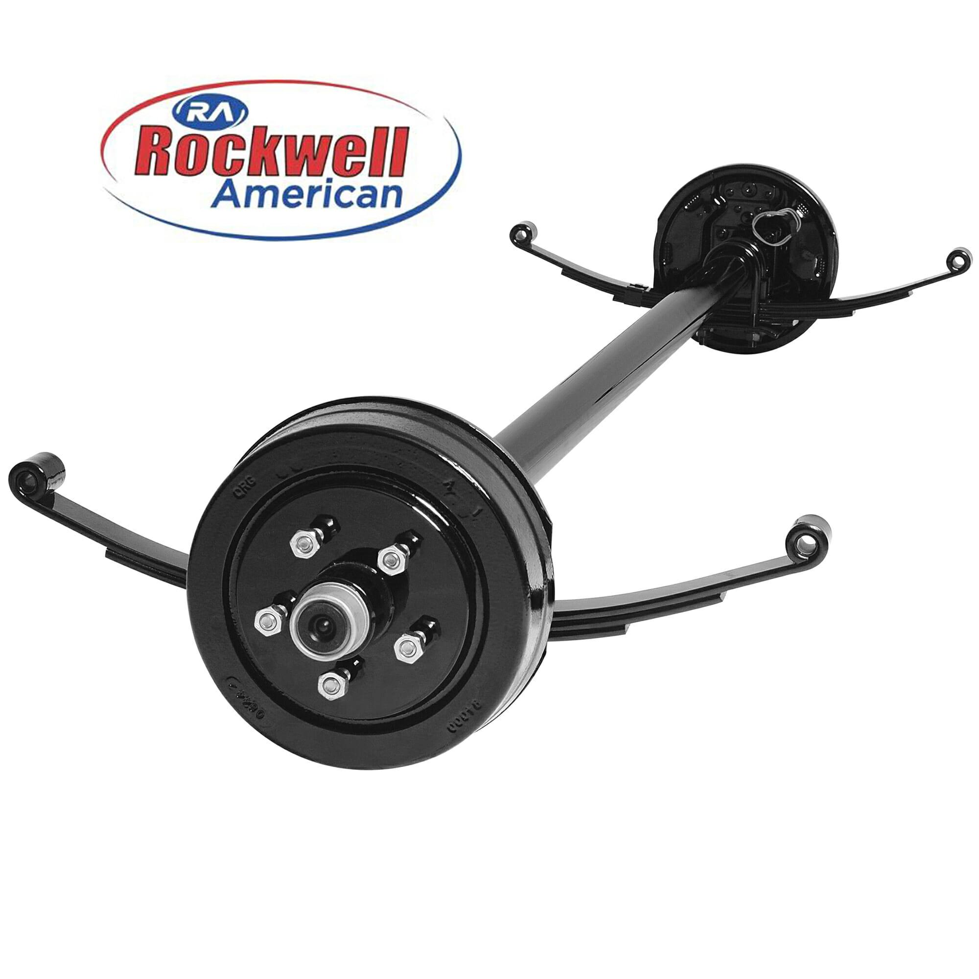 Trailer Axles Brakes System : Lb electric brake axle running gear set johnson