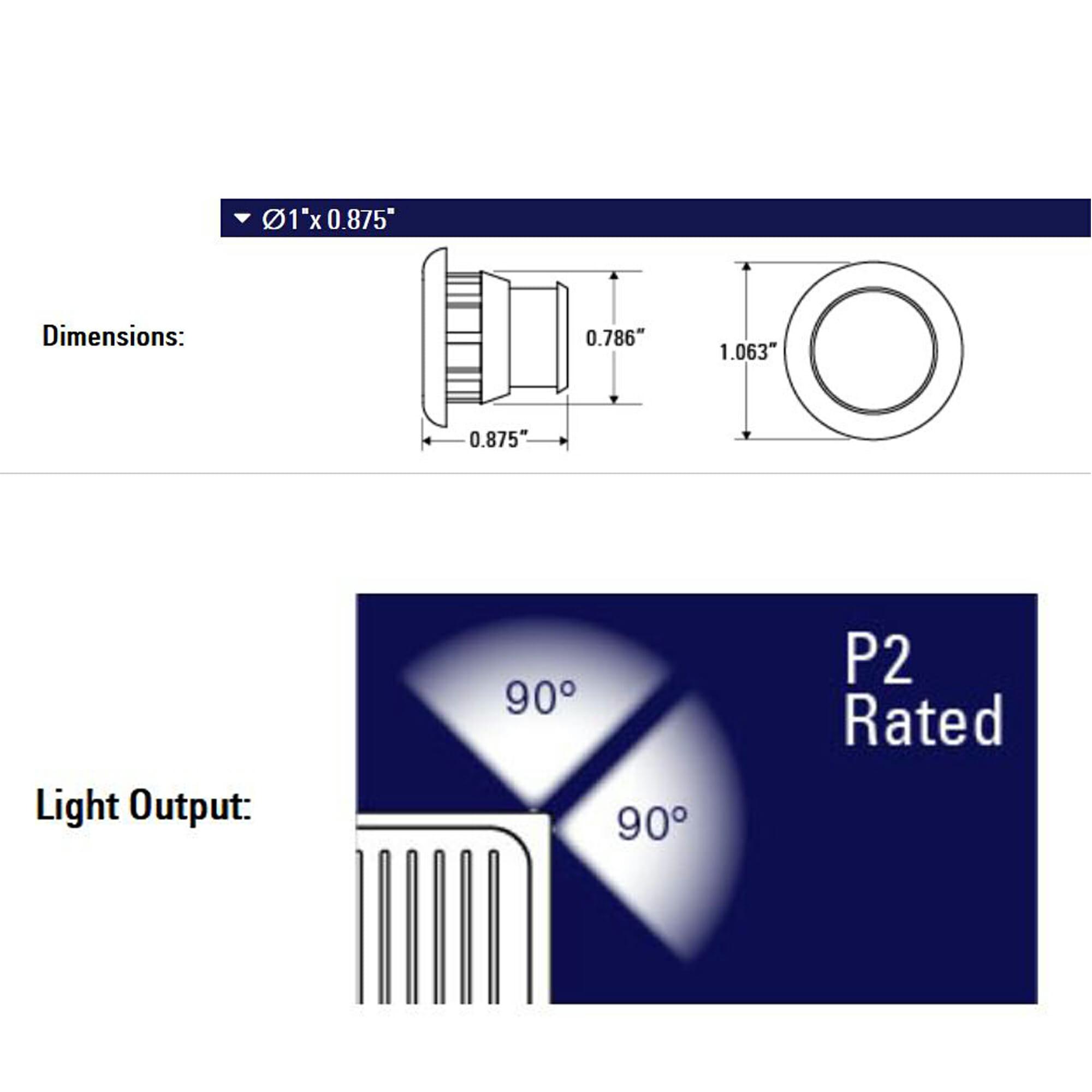 """Best Rated Shop Lights: 3/4"""" Amber Side Marker LED Lights (P2 Rated"""