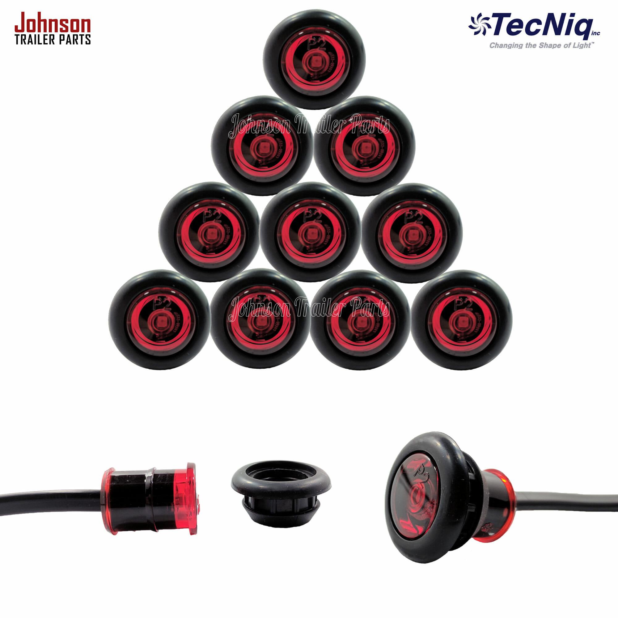 Best Rated Led Shop Lights: 3/4″ Red Side Marker LED Lights (P2 Rated