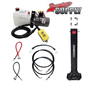 Single Hydraulic Trailer Jack Kit with KTI Hydraulic Pump | Premium Supply