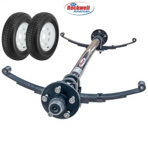 3,500 lb Idler Axle Running Gear Set with Wheel & Tires