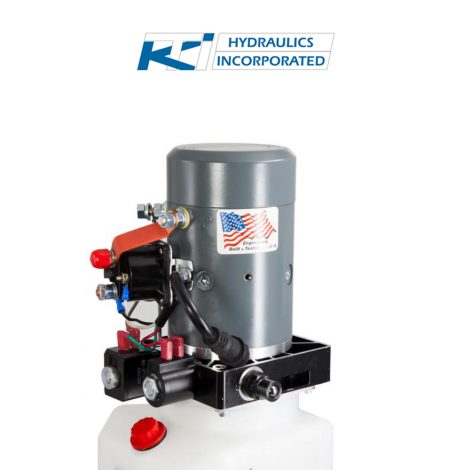3 Quart 12v KTI Double Acting Hydraulic Pump | DC-4442