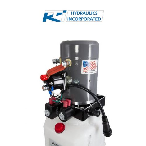 6 Quart 12V KTI Double Acting Hydraulic Pump | DC-4499