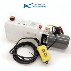 6 Quart 12V KTI Single Acting Hydraulic Pump