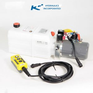 6 Quart 12V KTI Single & Double Acting Hydraulic Pump