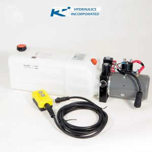 8 Quart 12V KTI Double Acting Hydraulic Pump