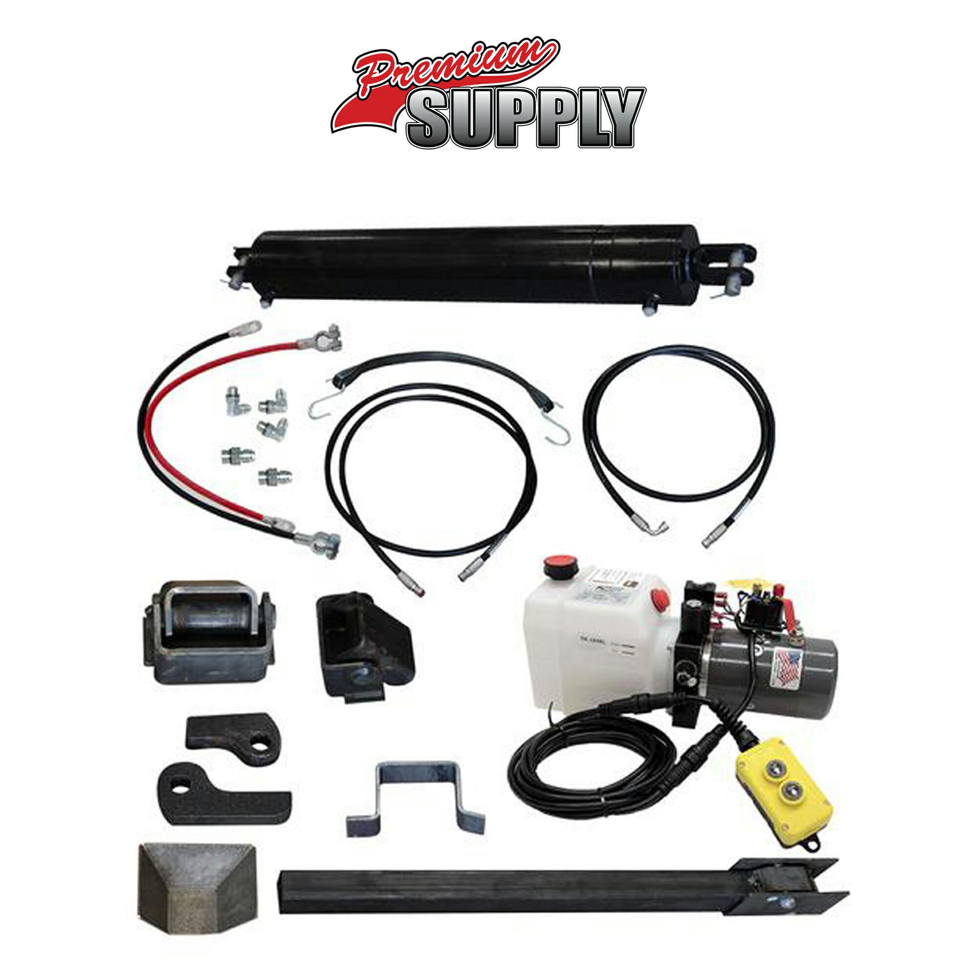 Hydraulic Trailer Lift Kits : Dump trailer hydraulic cylinder direct push kit pck
