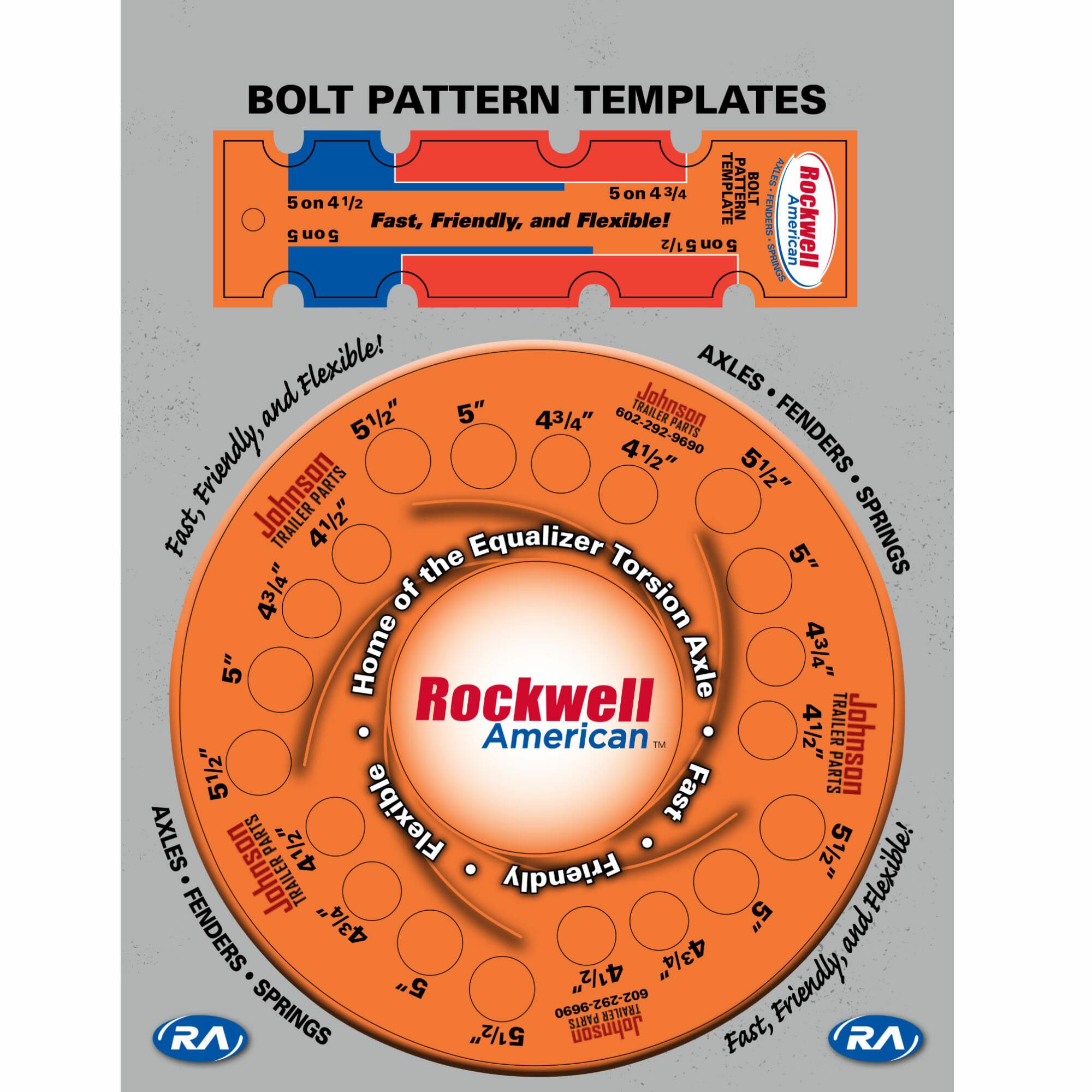 5 Lug Bolt Pattern Template Johnson Trailer Parts