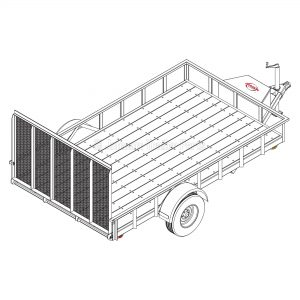 6' 10 x 12' Utility Trailer Plans Blueprints - 5,200 lb Capacity