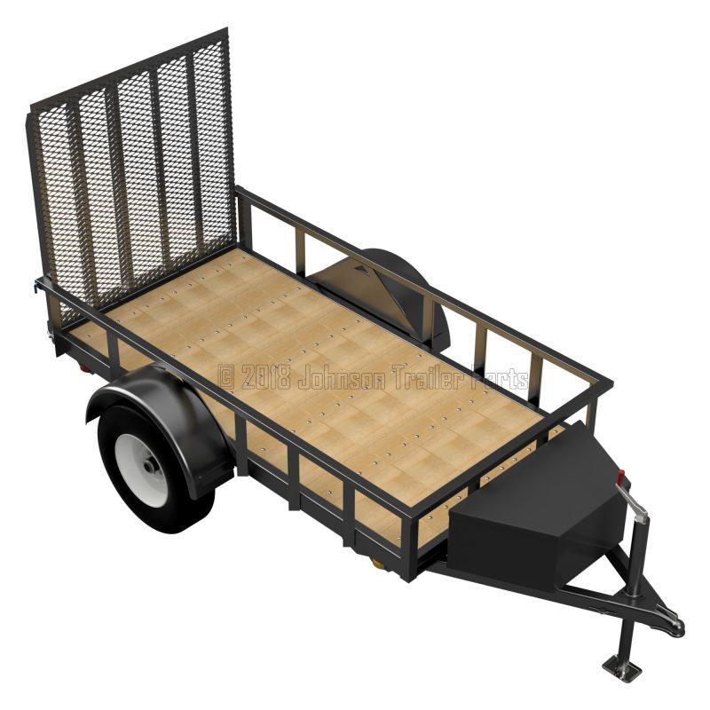 4 x 8 Utility Trailer Plans Blueprints - 3,500 lb Capacity - Model U49-96-35J