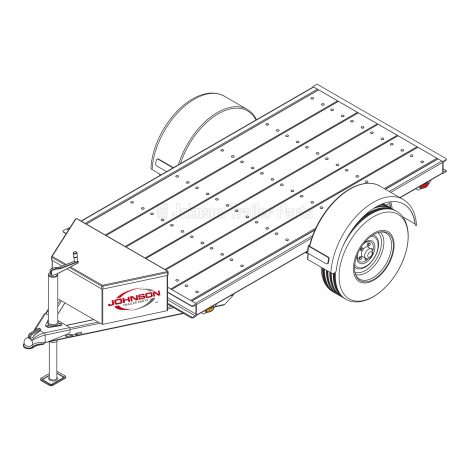 4′ x 8′ Utility Trailer Plans Blueprints – 3,500 lb Capaci