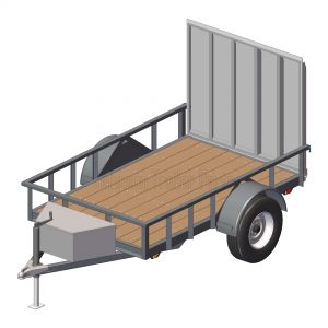 5' x 8' Utility Trailer Plans Blueprints - 3,500 lb Capacity