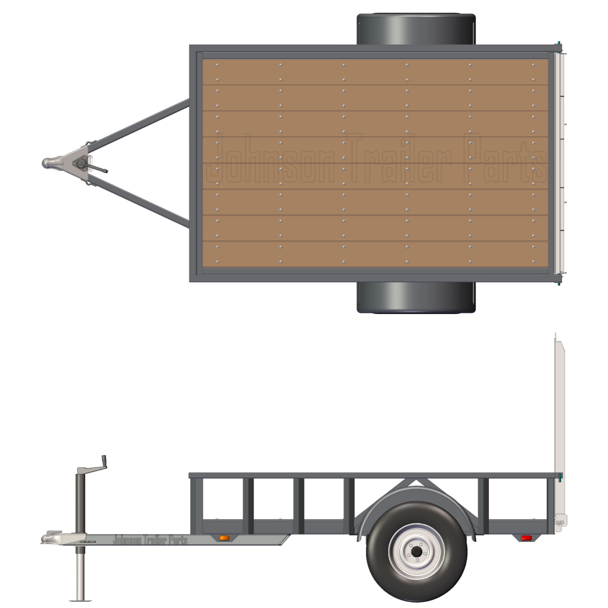 Utility Trailers: 5' X 8' Utility Trailer Plans Blueprints