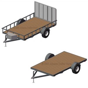 "6' 10"" x 12' Utility Trailer Plans Blueprints - 5,200 lb Capacity"