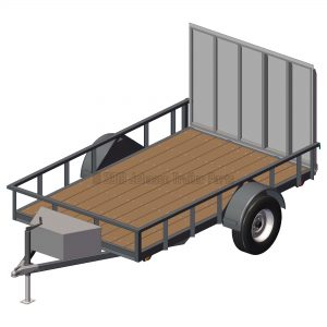 6' x 10' Utility Trailer Plans Blueprints - 3,500 lb Capacity