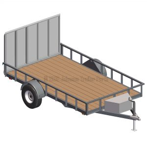 "6' 10"" x 12' Utility Trailer Plans Blueprints - 3,500 lb Capacity"