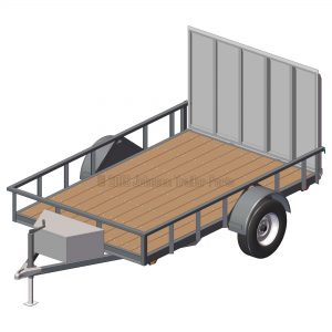 "6' 4"" x 10' Utility Trailer Plans Blueprints - 3,500 lb Capacity"
