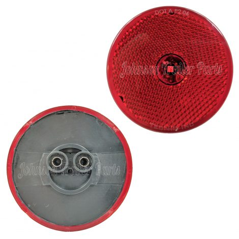 """2 Pack - 2.5"""" Red LED Side Markers with Steel Brackets"""