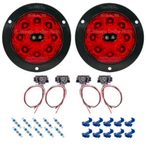 T45 | Hi Visibility LED Tail Light Kit - Flange Mount