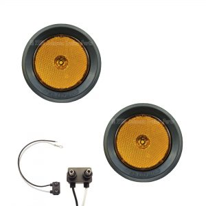 "2 Pack - 2.5"" Grommet Mount Amber LED Side Markers"