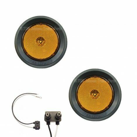 """2 Pack - 2.5"""" Grommet Mount Amber LED Side Markers"""
