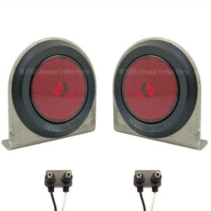 "2 Pack - 2.5"" Red LED Side Markers with Steel Brackets"