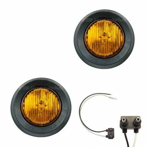 """2 Pack - 2"""" Grommet Mount Amber LED Side Markers"""