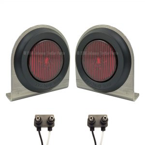 "2 Pack - 2"" Red LED Side Markers with Steel Brackets"