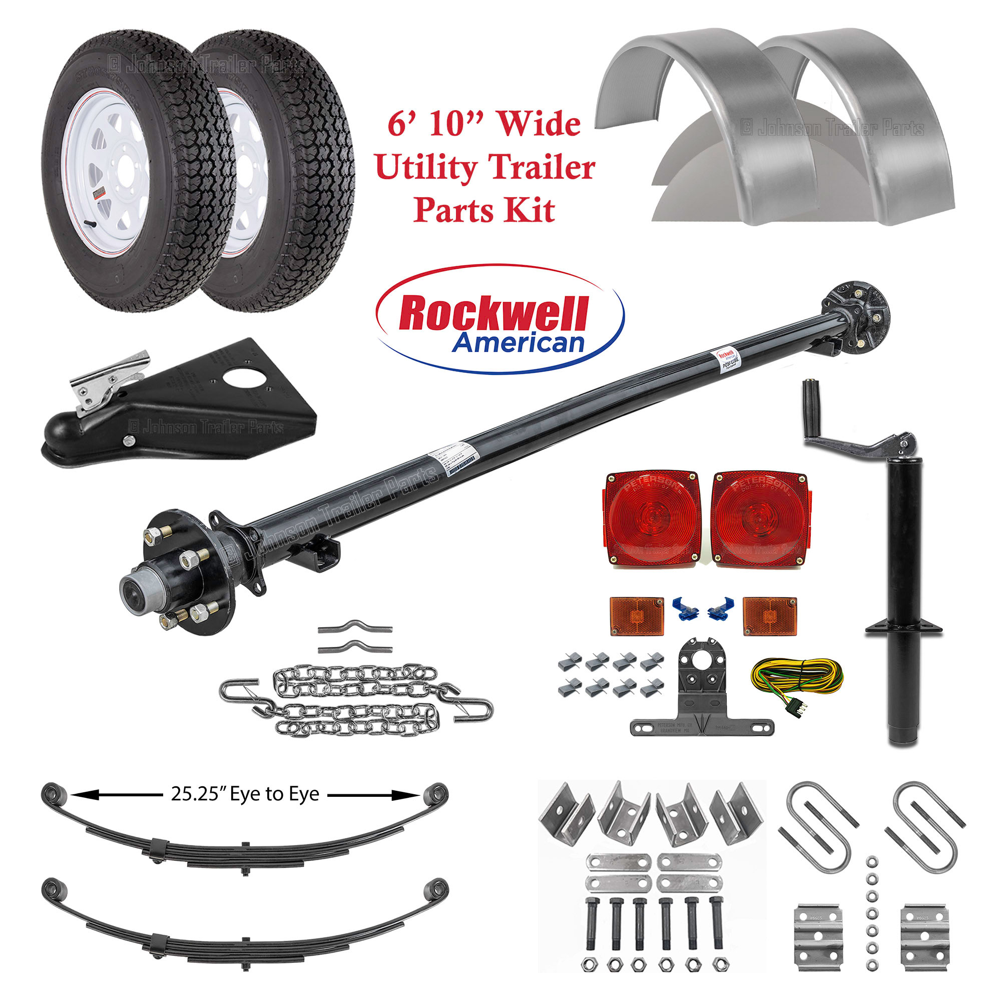 6ft 10in Utility Trailer Parts Kit – 3,500 lb Capacity