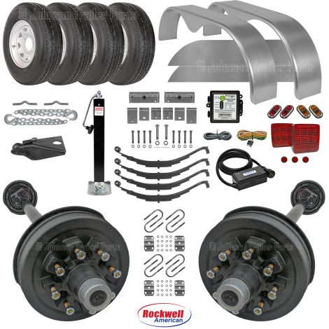 Tandem Axle Trailer Parts Kit - 14k Capacity