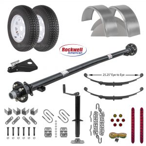 4ft Utility Trailer Parts Kit - 3.5k - Model U49-96-35J