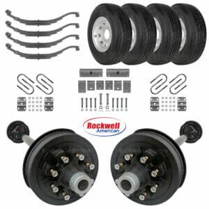Tandem 7k Electric Brake Axle Kit - Slipper Springs - ST235/80R16